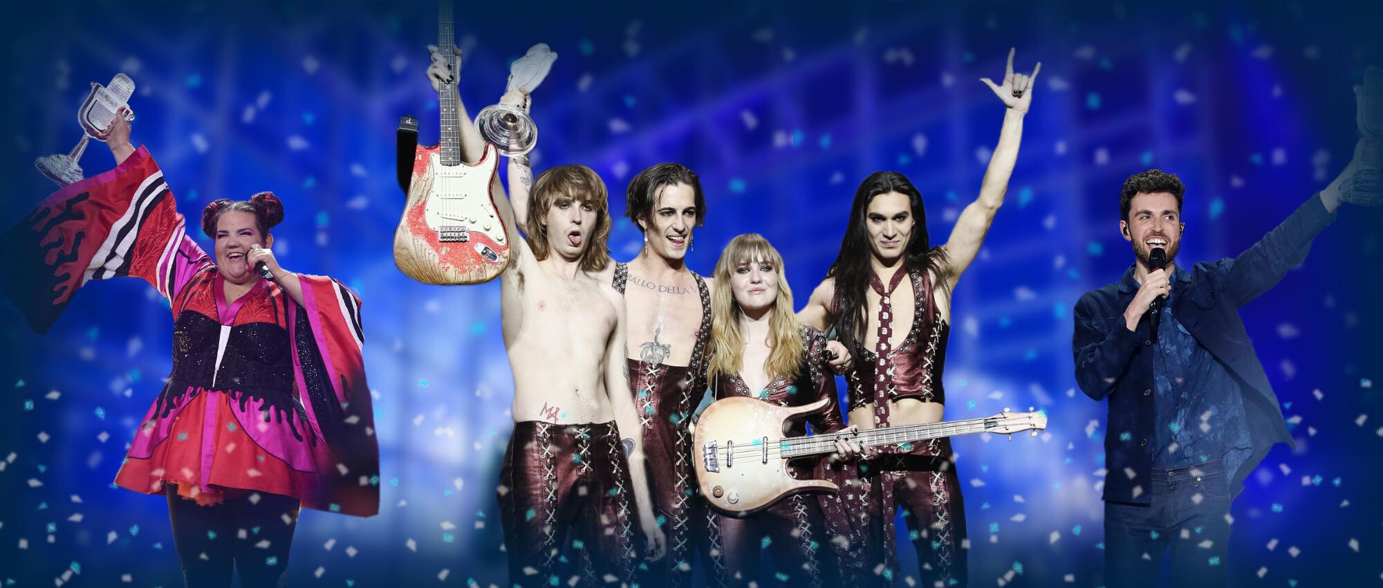 Eurovision Winners: Netta, Måneskin, Duncan Laurence