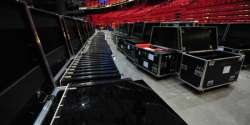 2016 Arena: The cases with the stage's LED floor