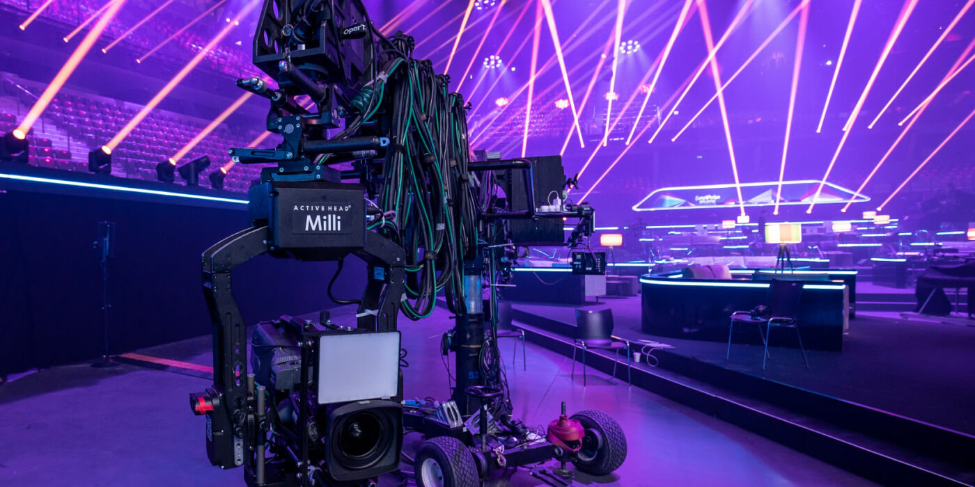 Camera at Eurovision Song Contest 2021