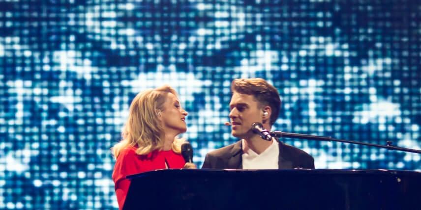 Denmark 2018: Hosts for Melodi Grand Prix 2018 - Annette Heick and Johannes Nymark