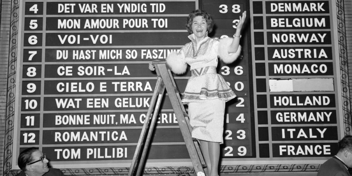 Eurovision 1960 Scoreboard
