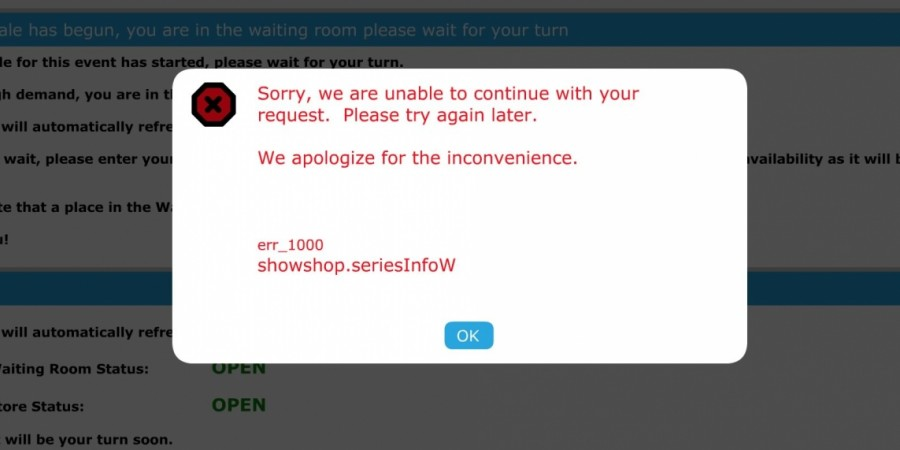 Eurovision 2016 Tickets axs.com error message