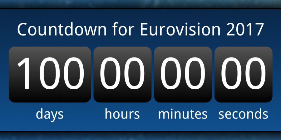Eurovision 2017: Countdown 100 days