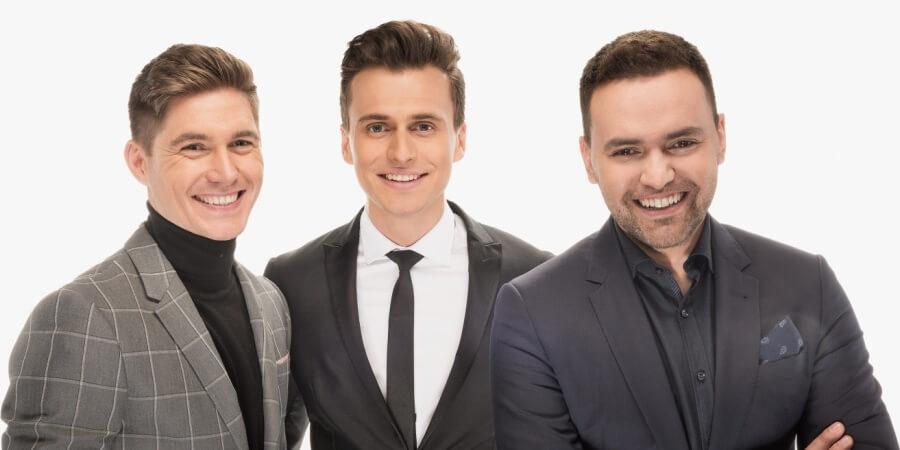 Eurovision 2017 Hosts: Oleksandr Skichko, Volodymyr Ostapchuk, and Timur Miroshnychenko