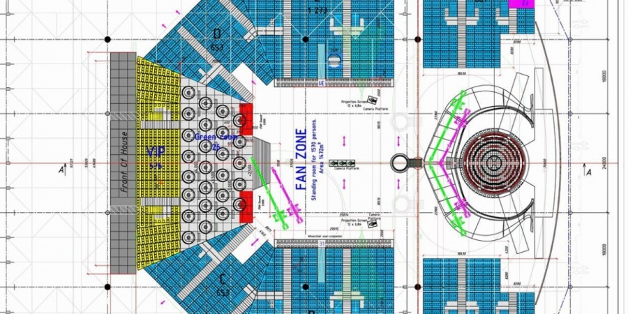 Eurovision 2017: Kyiv International Exhibition Centre floor plan