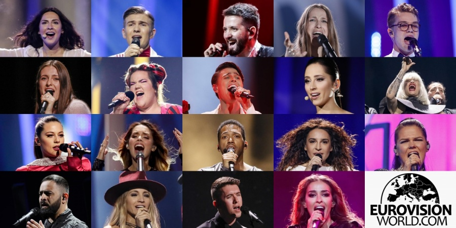Eurovision 2018 Semi-final 1 participants