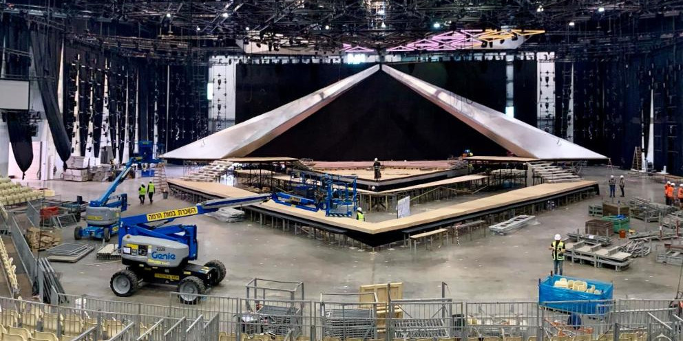 Eurovision 2019: Construction inside the arena