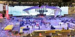 Eurovision Stage 2017: View from the back of Kyiv Exhibition Centre