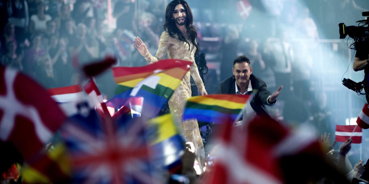 Eurovision 2014: Conchita and pride flags