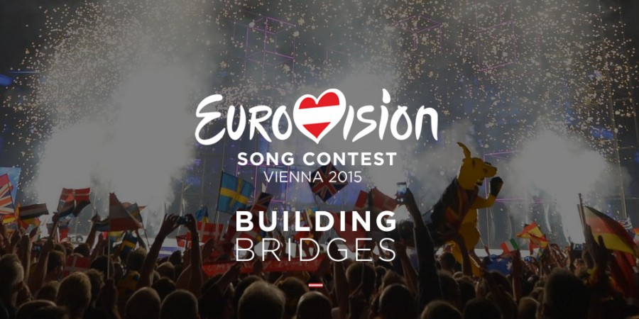 Eurovision 2015 Logo Building Bridges