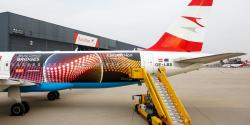 Eurovision Plane from Austrian Airlines