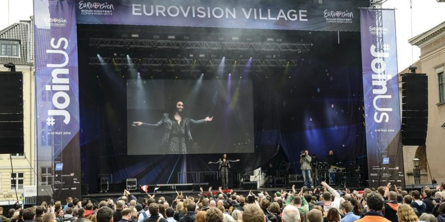 Eurovision Village 2014. Conchita Wurst performing