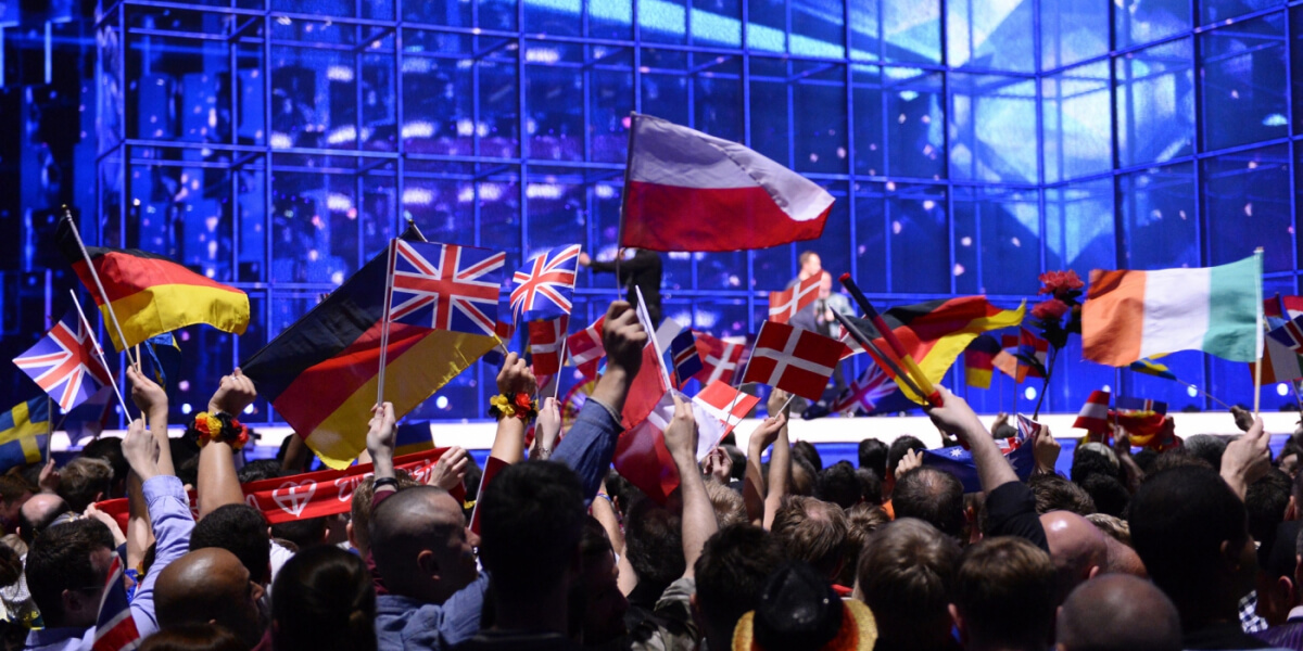 Flags at Eurovision Song Contest 2014