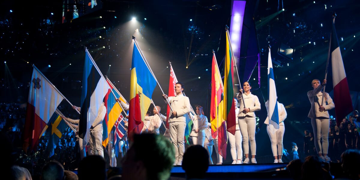 Flags at Eurovision Song Contest 2013