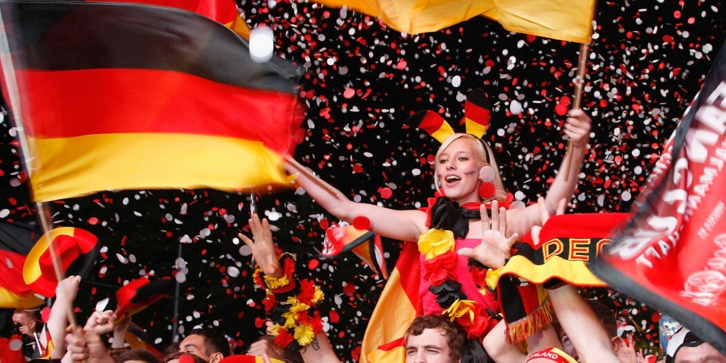 Germany Eurovision fans and flags