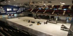Inside the arena: The construction has begun