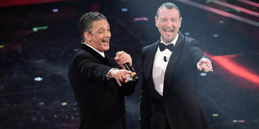 Italy Sanremo 2021: Hosts Amedeo Sebastiani and Fiorello