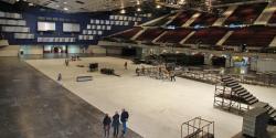 Materials are prepared in the arena