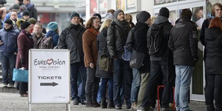 Queue for tickets in Vienna