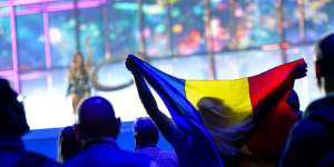 Romanian flag at Eurovision 2014
