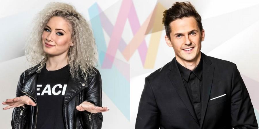 Sweden 2016 Melodifestivalen Deltävling 2 David Lindgren and Wiktoria