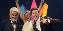 Sweden Meldodifestivalen 2017 hosts: Clara Henry, David Lindgren & Hasse Andersson
