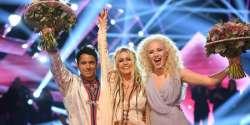 Sweden Melodifestivalen 2017: Wiktoria and Jon Henrik Fjällgren feat. Aninia