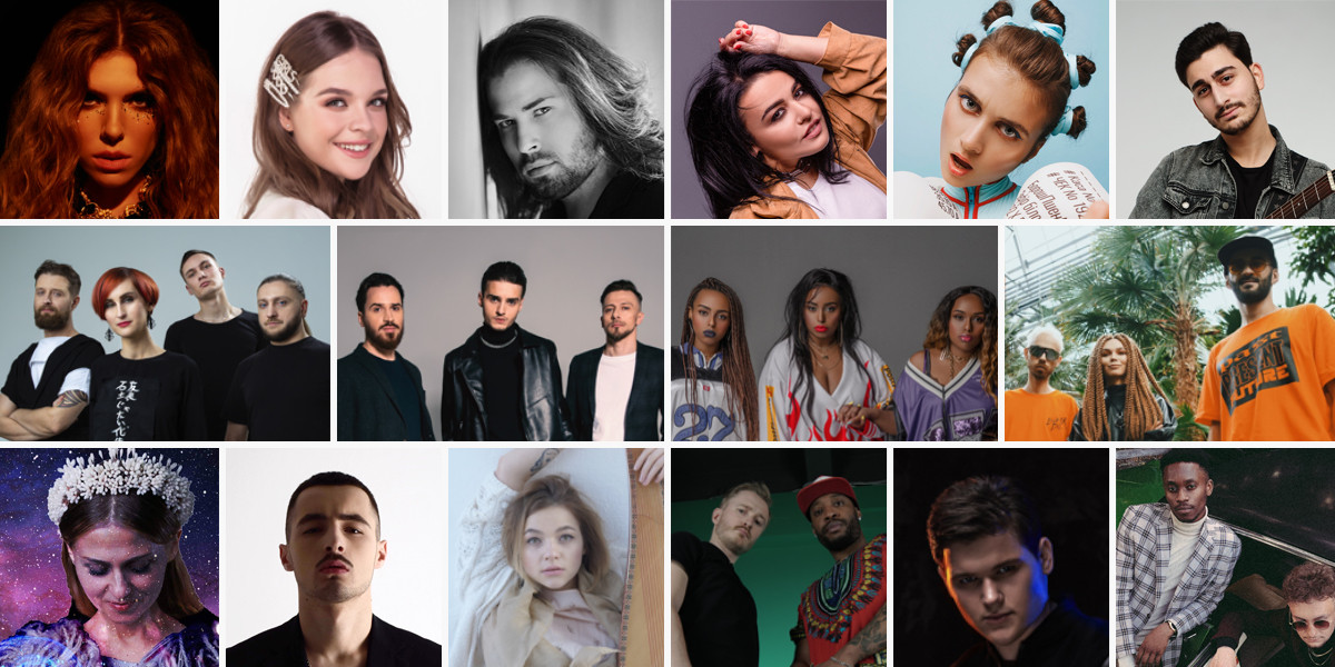 Ukraine Vidbir 2020 artists