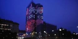 Uniqa Towers near the Danube river in Vienna