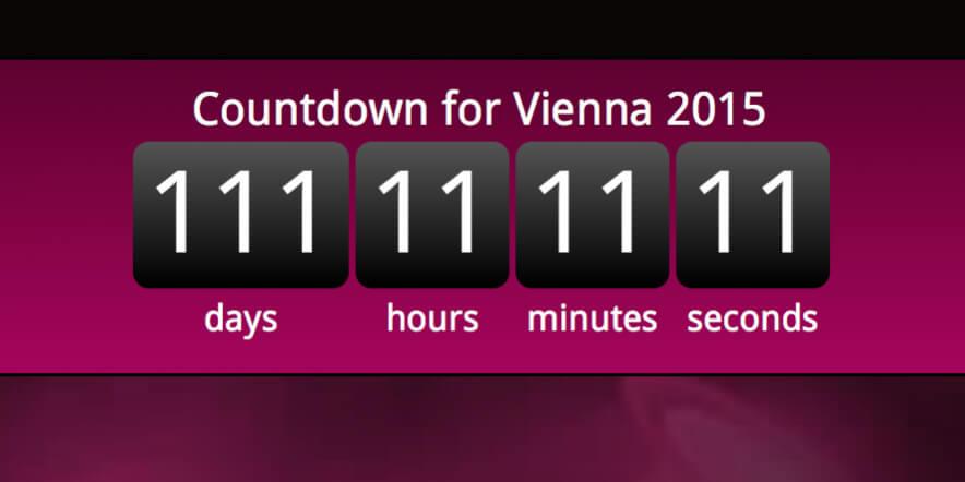 Vienna 2015 Countdown 111 days